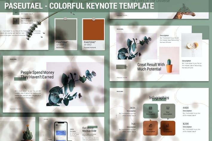 Thumbnail for Paseutael - Colorful Keynote Template
