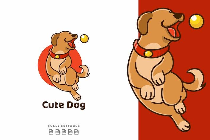 Thumbnail for Cute Dog Play Ball Logo