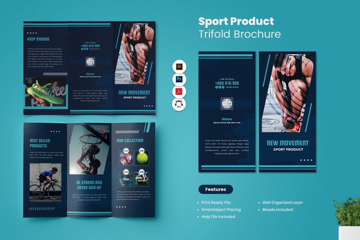 Sport Product Trifold Brochure