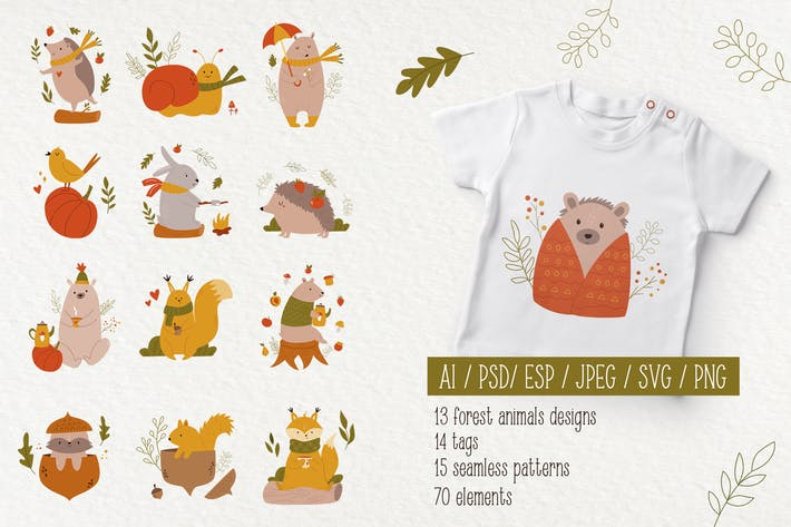 Thumbnail for Forest Animals. Autumn Mood.