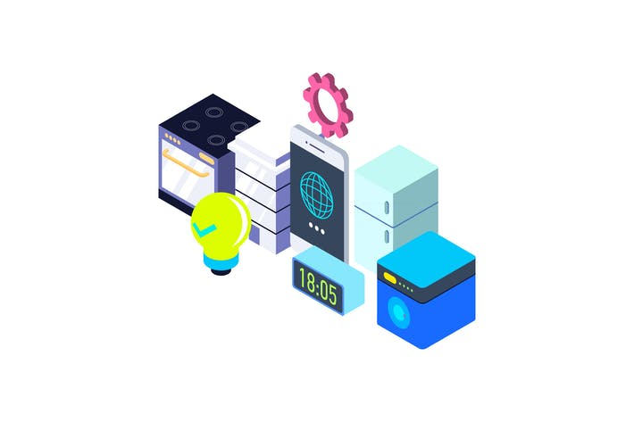 Thumbnail for Internet of Things Isometric Illustration