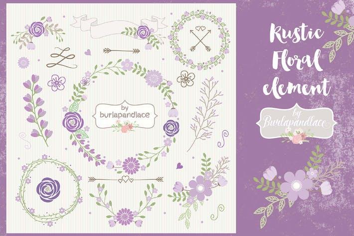 Thumbnail for Purple floral wreath clipart