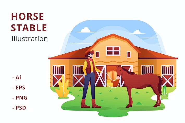 Thumbnail for Horse Stable Illustration