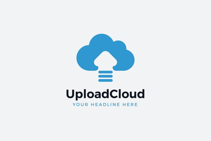 Thumbnail for Cloud Upload Logo Template