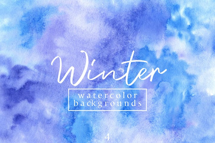 Thumbnail for Winter Waterolor Backgrounds 4