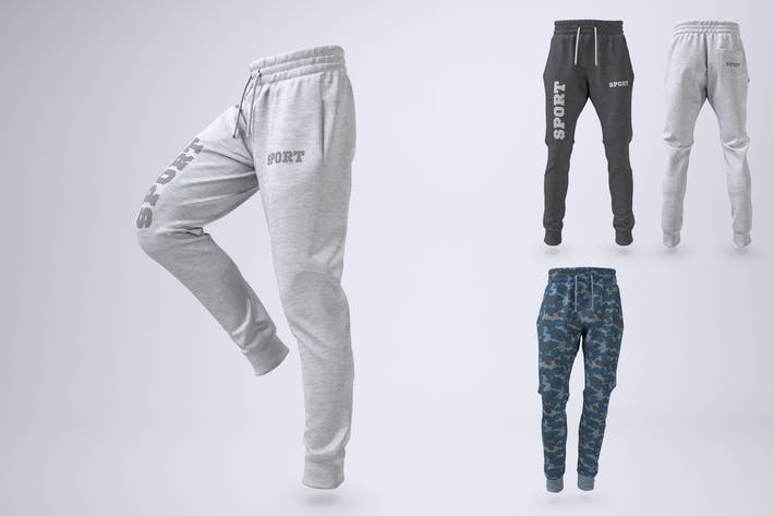 Joggers Pants or Sweatpants Mock-Up