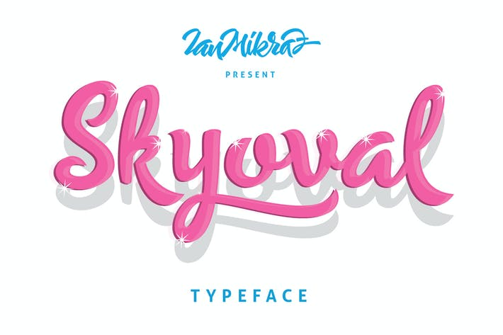 Thumbnail for Skyoval Typeface
