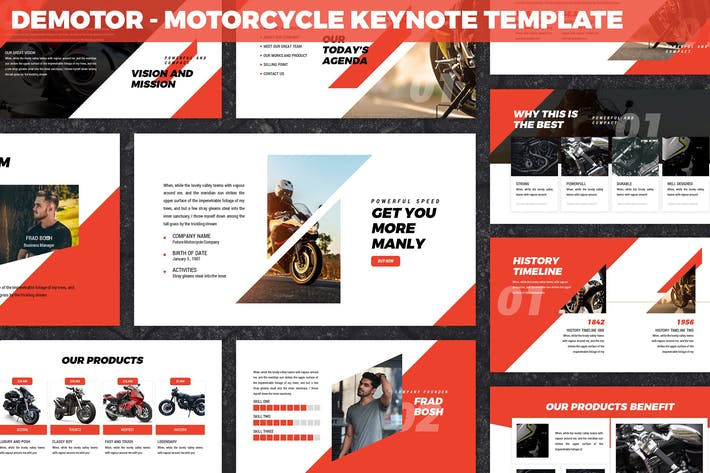 Thumbnail for Demotor - Motorcycle Keynote Template