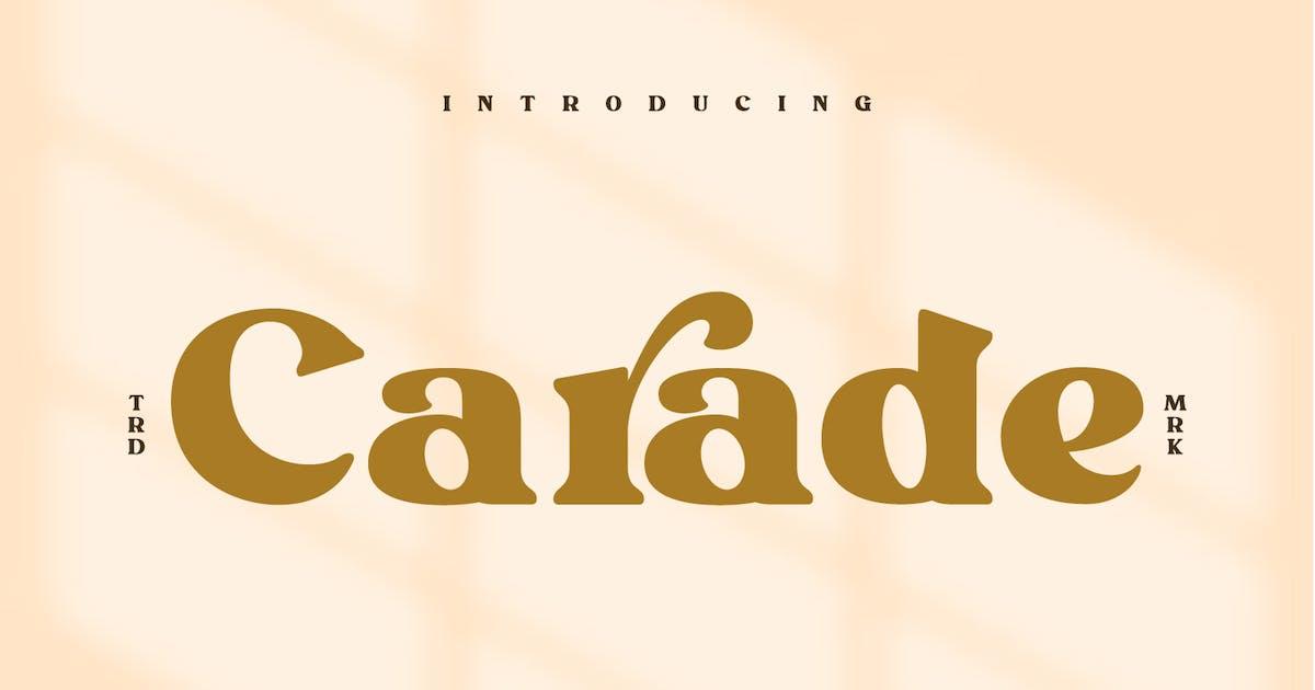 Download Carade-Elegant Serif Font by Din-Studio