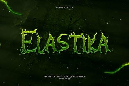 Elastika - Haunted Hand Drawing Display Typeface