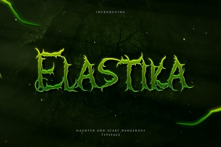 Thumbnail for Elastika - Haunted Hand Drawing Display Typeface