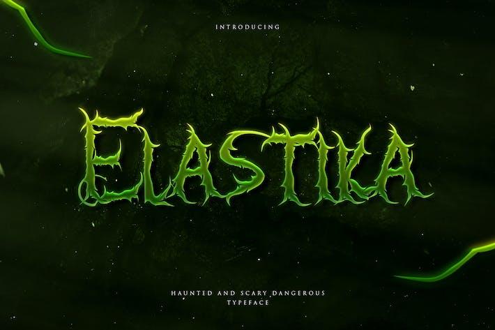 Elastika - Haunted Mano Drawing Display Tipo de letra