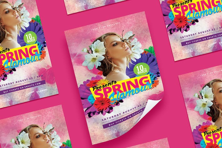 Sping Glamour Party Flyer