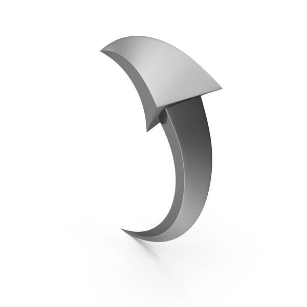 Flecha direccional de acero