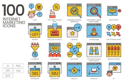 100 Internet-Marketing-Icons