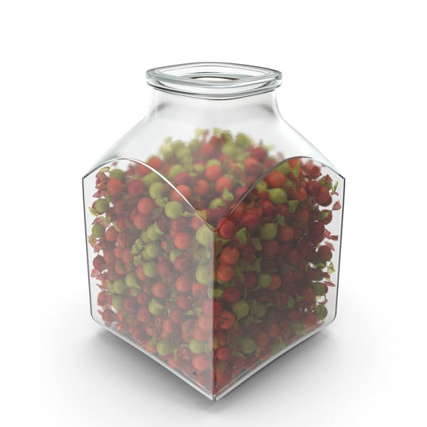Thumbnail for Square Jar with Wrapped Spherical Candy