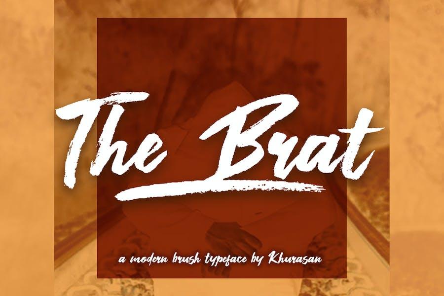 The Brat Brush Font