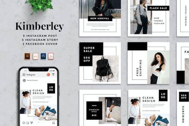 Rantautemp - Kimberley Minimal Social Media Post - product preview 3