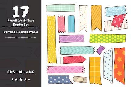 Kawaii Washi Tape Doodle Set