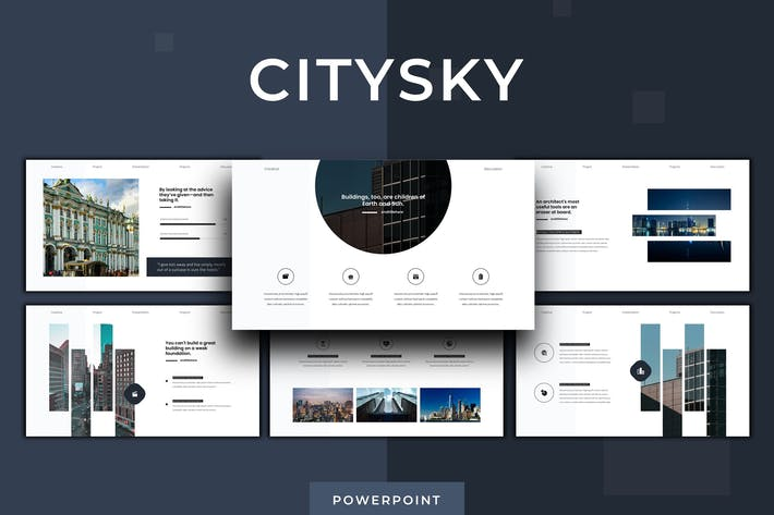 Thumbnail for Citysky - Powerpoint Template