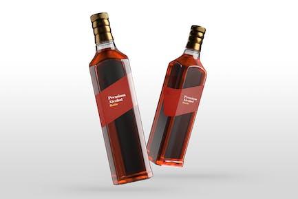 Premium-Alkohol-Flaschen-Mockups