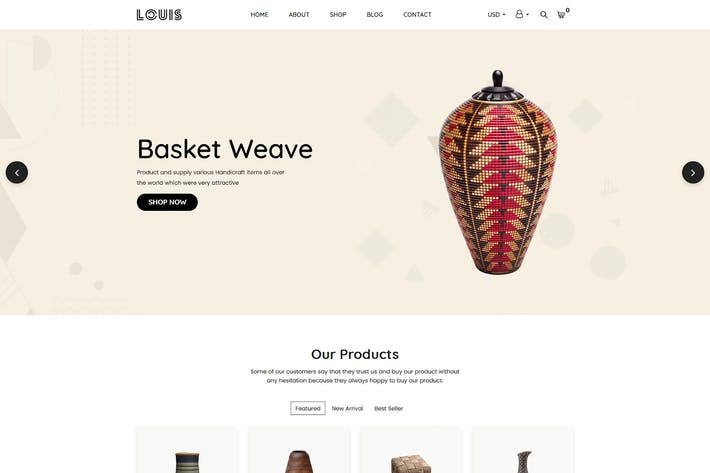 Thumbnail for Louis – Handmade & Craft Shopify Theme