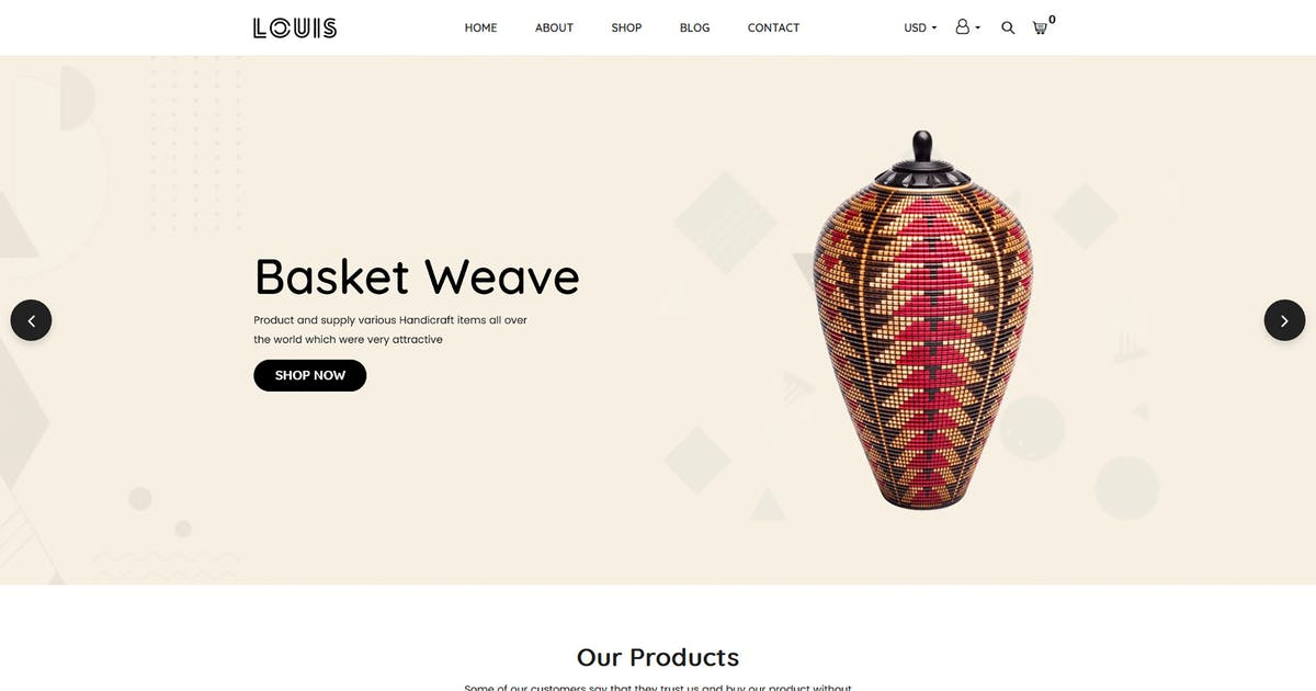 Download Louis – Handmade & Craft Shopify Theme by codecarnival