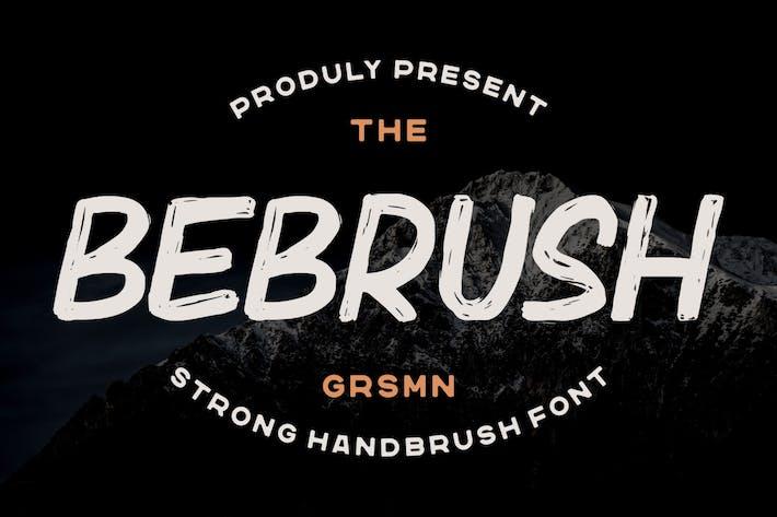 Bebrush — Fuente cepillada a mano
