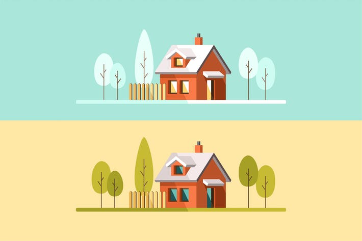 Thumbnail for Suburban Family Home Summer and Winter Season
