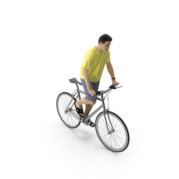 Man Riding Bike Radim