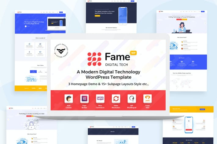 Thumbnail for Fame - Digital Technology/Service WordPress Theme