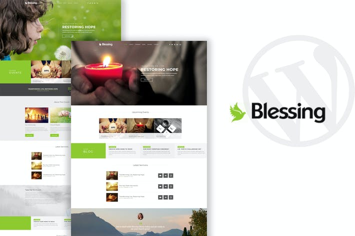 Thumbnail for Blessing - Church WordPress Theme