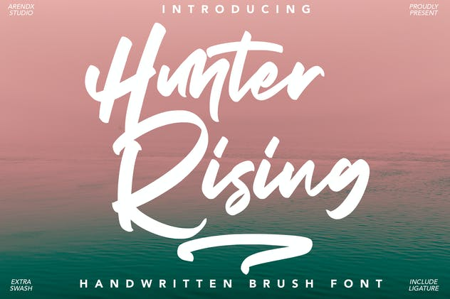 Hunter Rising - Brush Font