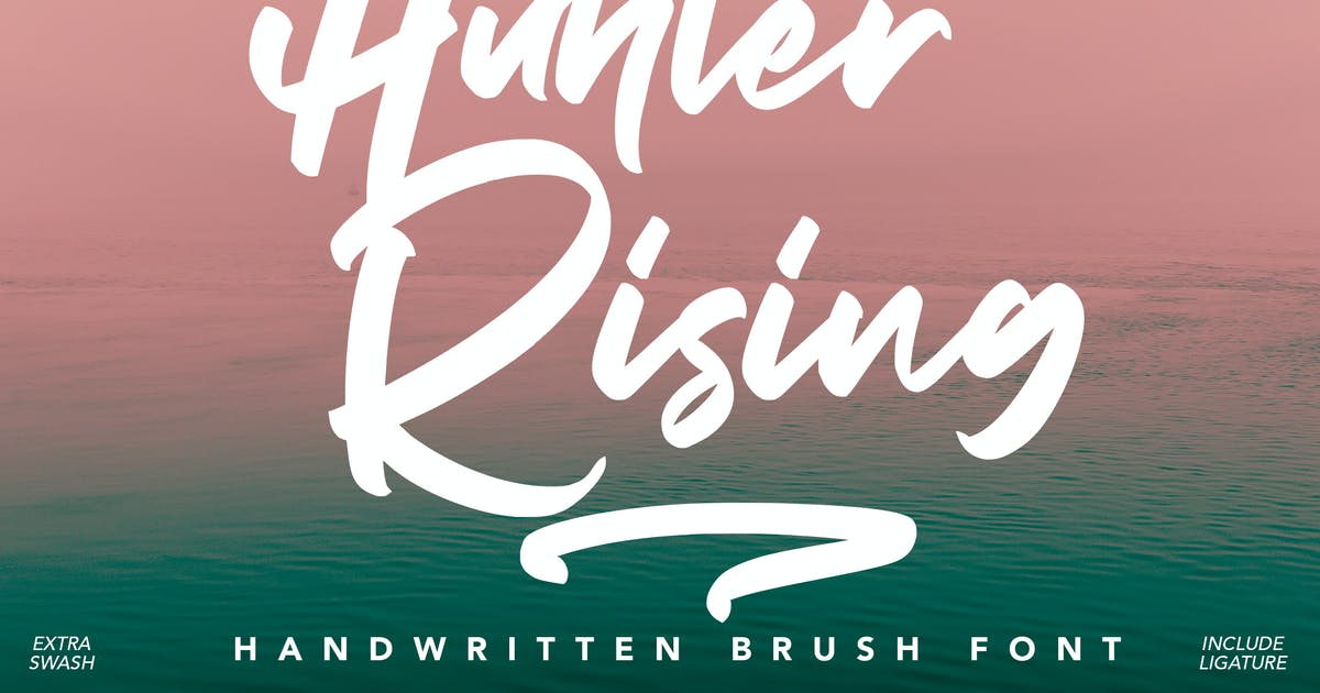 Download Hunter Rising - Brush Font by arendxstudio