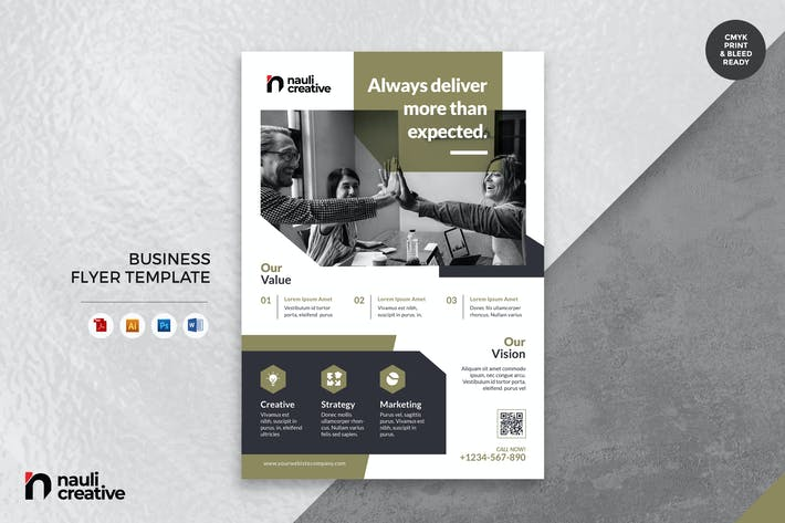 Thumbnail for Corporate Business Flyer AI, DOC, & PSD Vol.3
