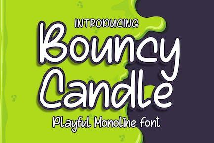 Bouncy Candle - Playful Monoline Font