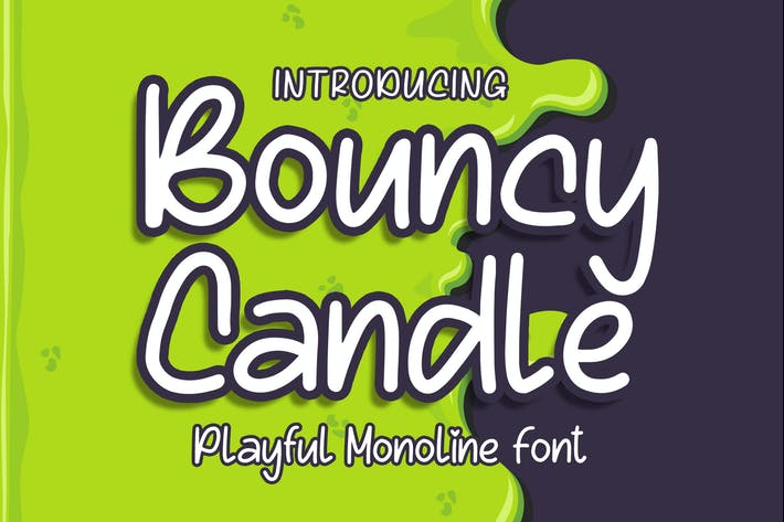 Thumbnail for Bouncy Candle - Playful Monoline Font
