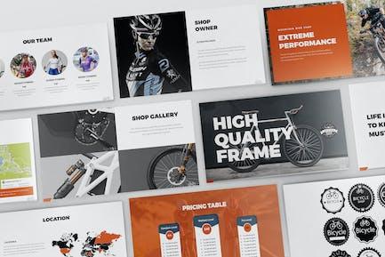 Шаблон презентации велосипедов Powerpoint