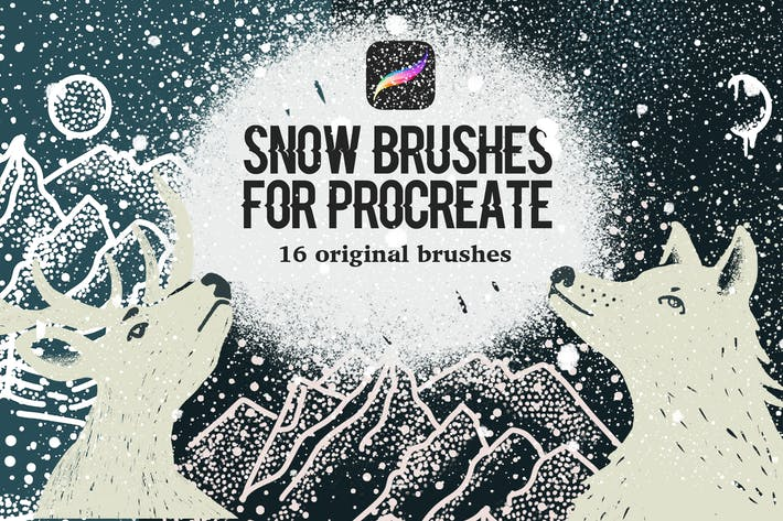 Thumbnail for Snow Brushes for Procreate