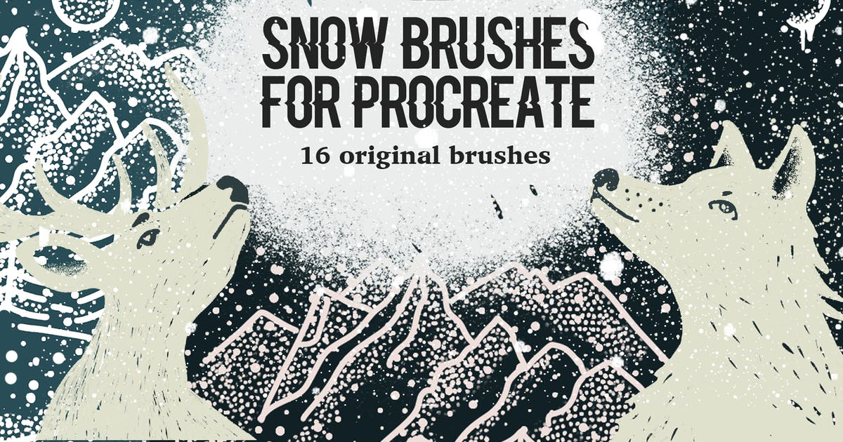 Download Snow Brushes for Procreate by a_slowik