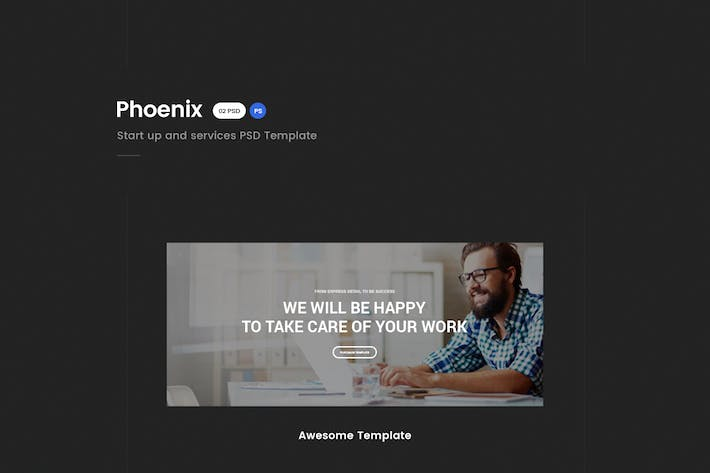 Thumbnail for Phoenix - Services PSD Template