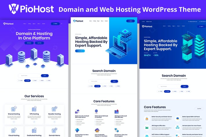 Thumbnail for Piohost - Dominio Web Hosting Elementor WordPress