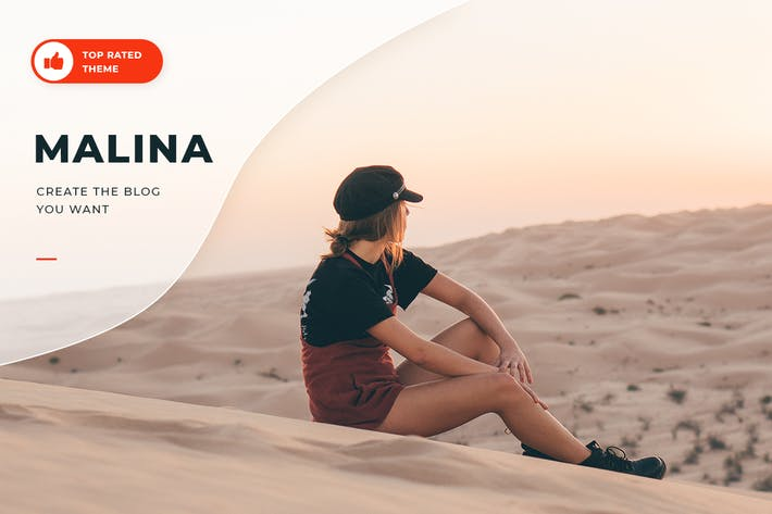 Thumbnail for Malina - Personal WordPress Blog Theme