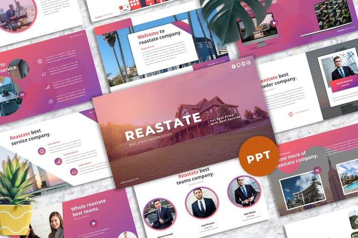 Thumbnail for Reastate - Real Estate Business PowerPoint