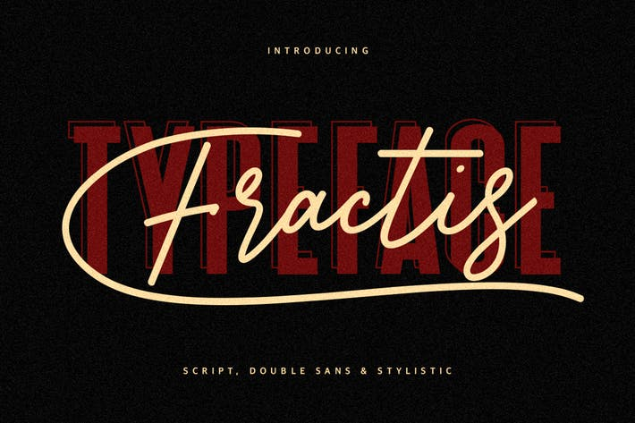 Thumbnail for Fractis Typeface Collection
