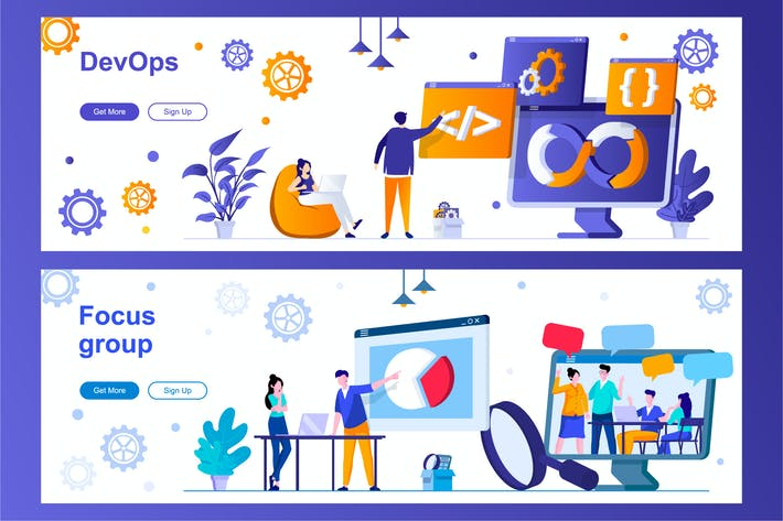 Thumbnail for DevOps and Focus Group Web Banners
