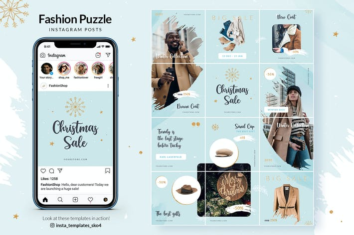 Thumbnail for Christmas Fashion Sale - Instagram Puzzle