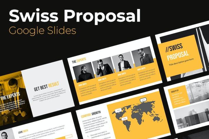 Thumbnail for Swiss Proposal Google Slides