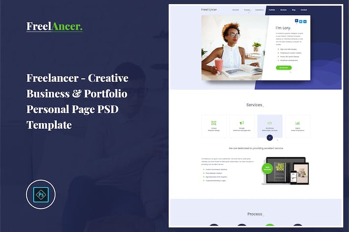 Thumbnail for Freelancer - Portfolio Personal Page PSD Template