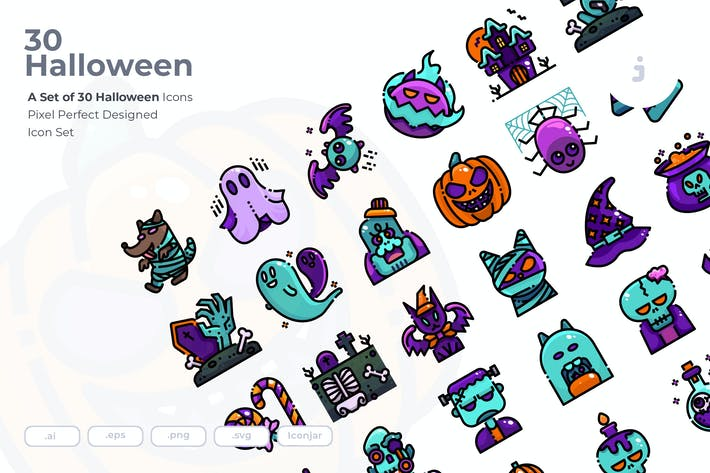 Thumbnail for 30 Halloween-Icons